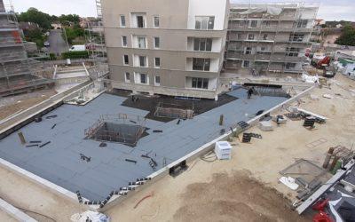 Terrasses accessibles avec dalles sur plots – Cugnaux proche Toulouse.